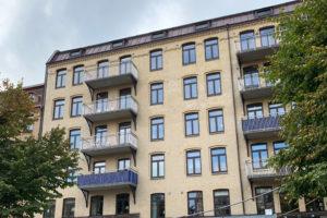 Fasaden på Nordhemsgatan 29 i göteborg